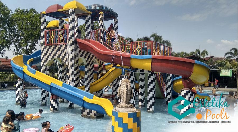 Ceria Waterpark: Kolam Renang yang Mengadopsi Gaya Dekorasi Fun