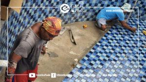 Pekerjaan Pemasangan Mosaic Kolam Renang