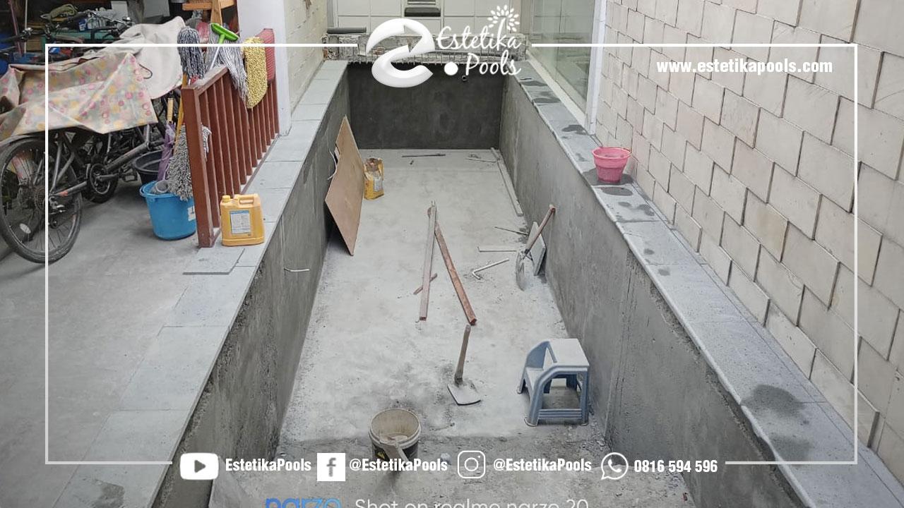 Perapian dinding dan Lantai Kolam